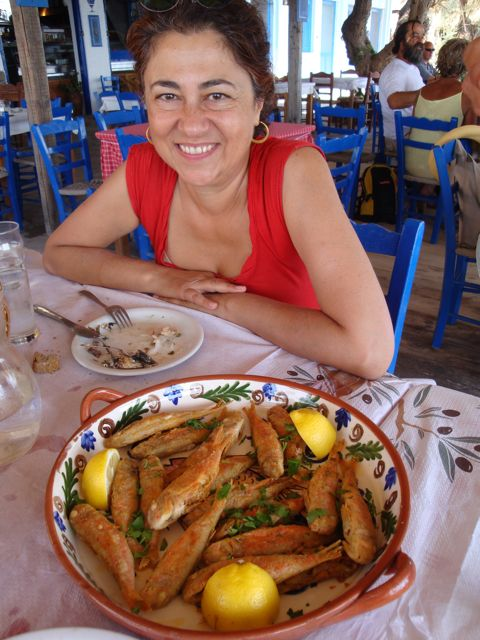 Fish at the Blue Sardine, Skala Eressos