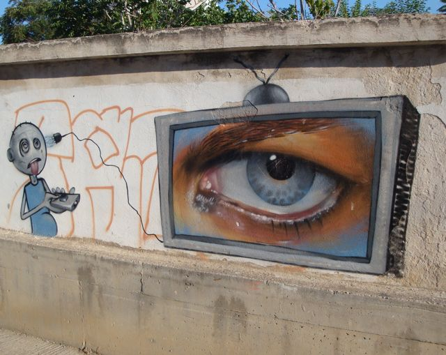 Eressos, Lesvos graffiti art