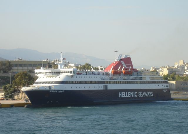 Nissos Chios ferry to Mytilini