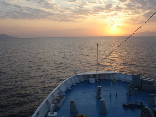 Sunrise, Ferry to Mytilini
