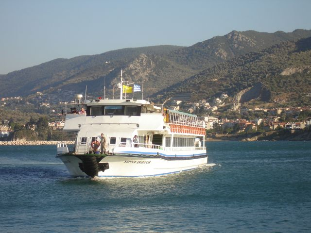 Ferry from Mytilini to Avalik, Turkey