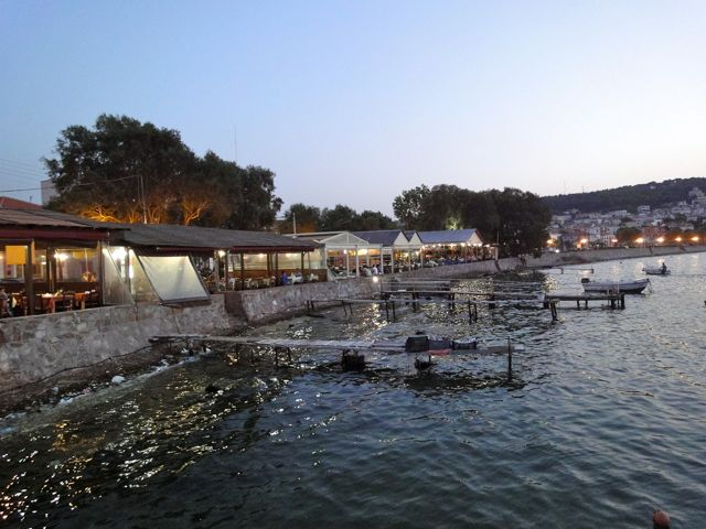 Fish restaurants, Mytilini