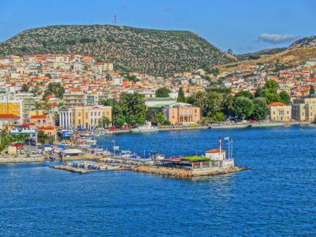 Ouzeri, Mytilini harbor